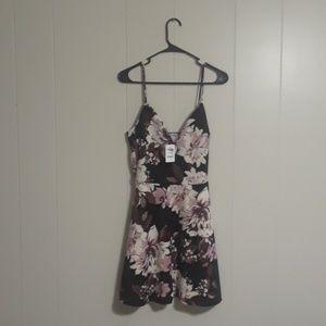 Charlotte russe, spaghetti strap dress, fit/flare